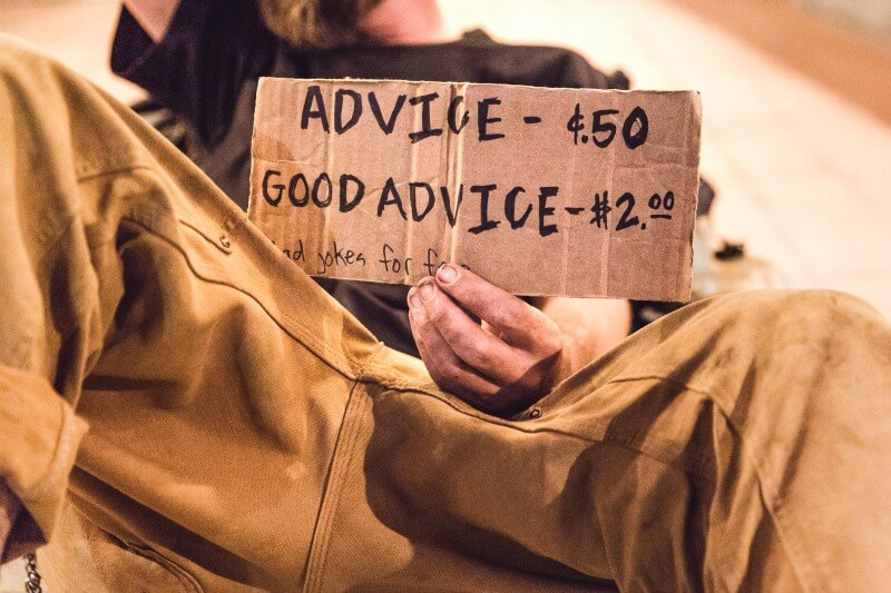 Man charging money for advice