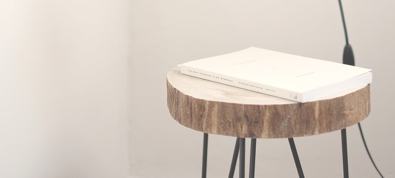 A book on a stool