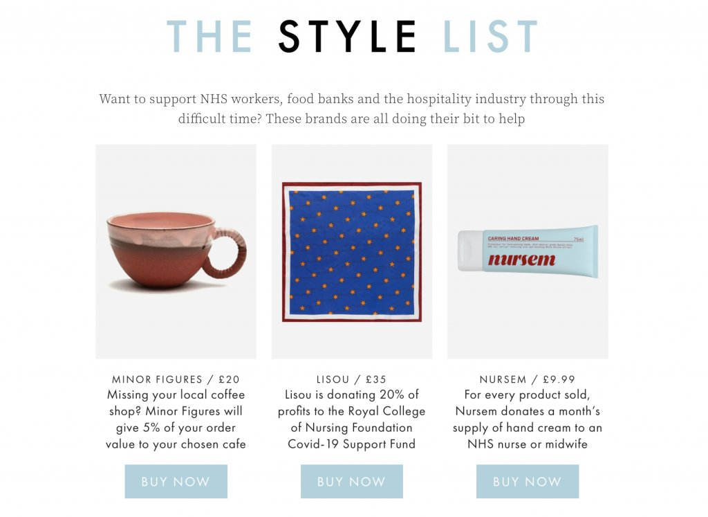 The Style List using PR to support charities as well as sell products