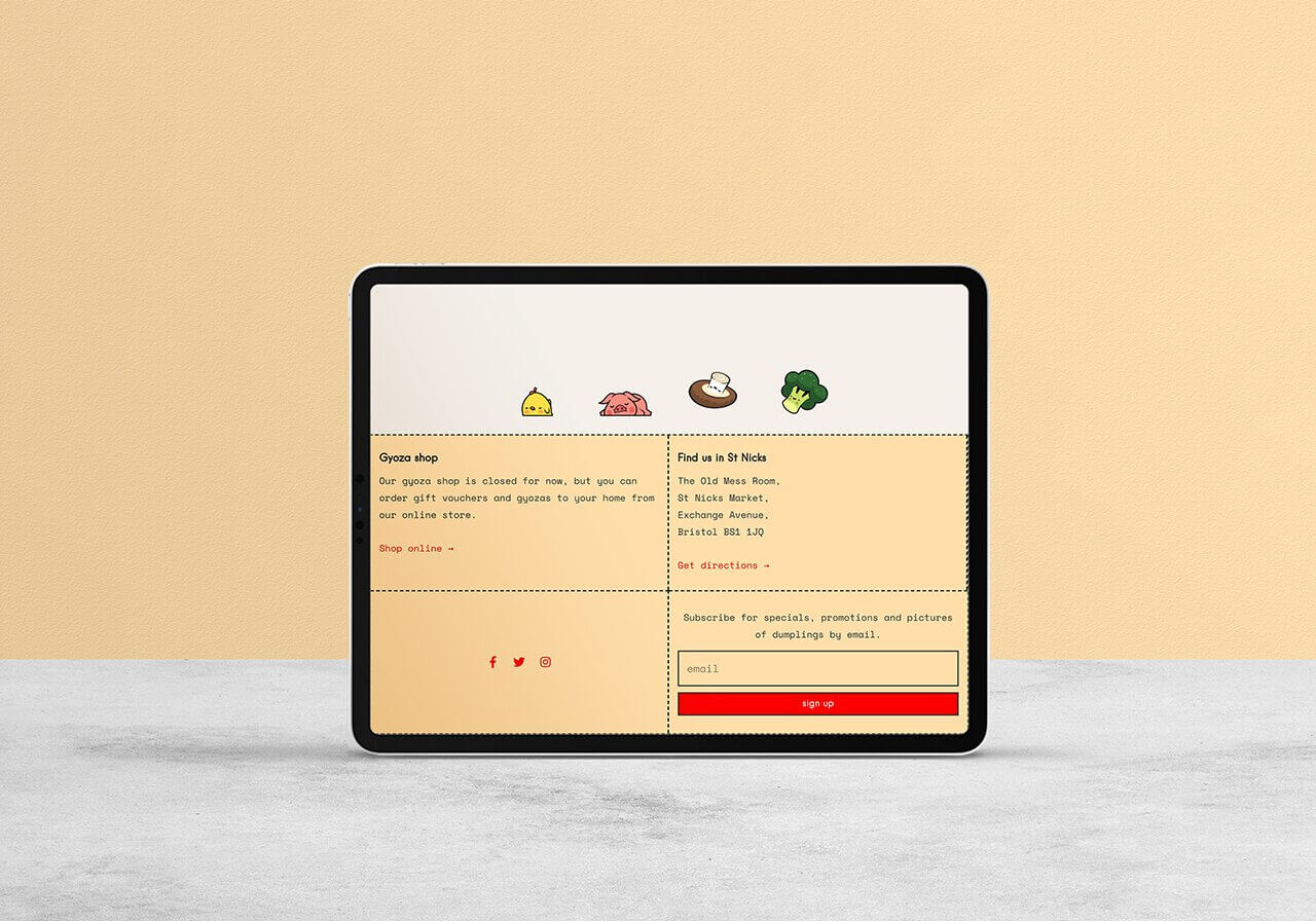 Bristol based Eatchu website about us mock up on tablet by Studio Cotton
