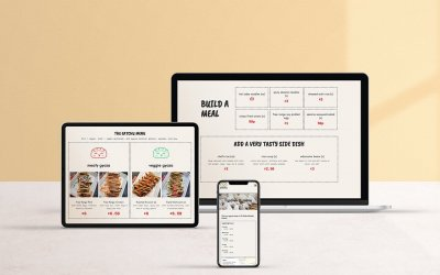 Bristol based Eatchu website find us mock up on phone, tablet and laptop by Studio Cotton